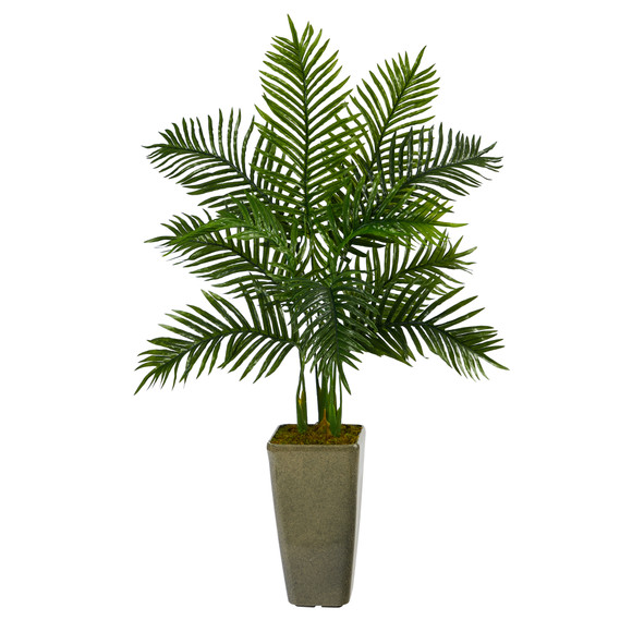 4 Areca Palm Artificial Tree in Green Planter Real Touch - SKU #T2156