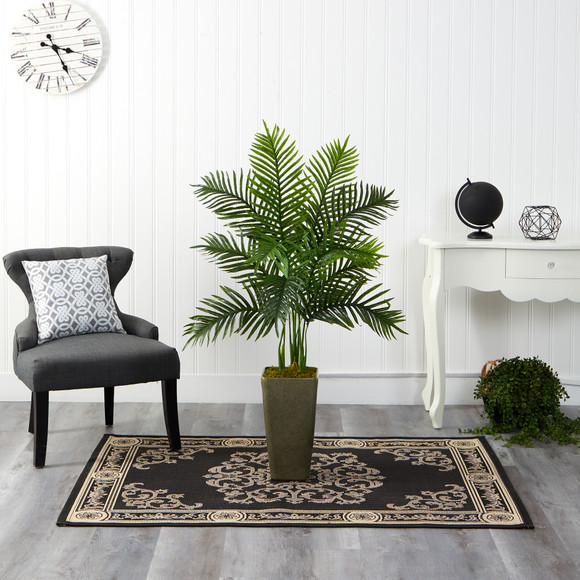4 Areca Palm Artificial Tree in Green Planter Real Touch - SKU #T2156 - 2