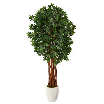 6 Lychee Artificial Tree in White Planter - SKU #T2161