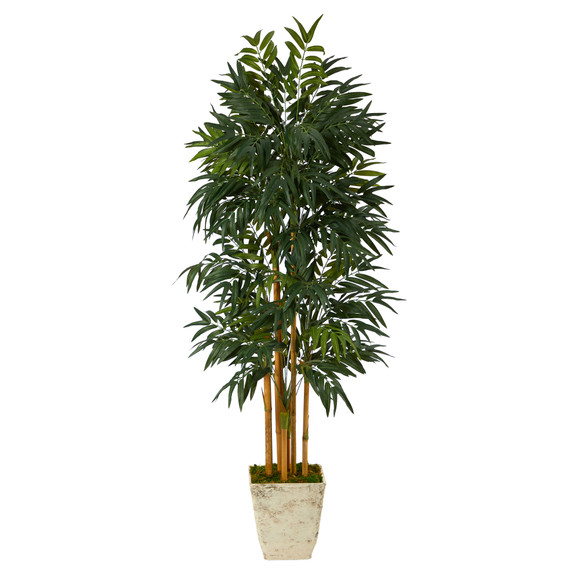 70 Phoenix Palm Artificial tree in Country White Planter - SKU #T2165