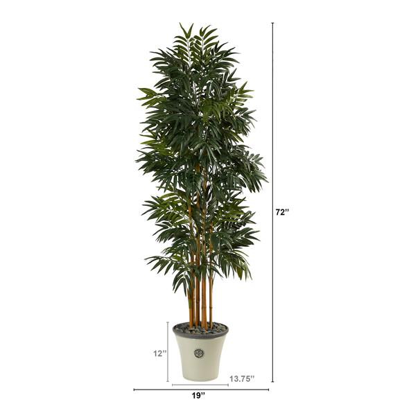 6 Phoenix Artificial Palm tree in Decorative Planter - SKU #T2167 - 1