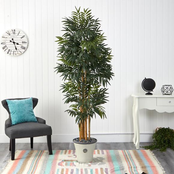6 Phoenix Artificial Palm tree in Decorative Planter - SKU #T2167 - 2