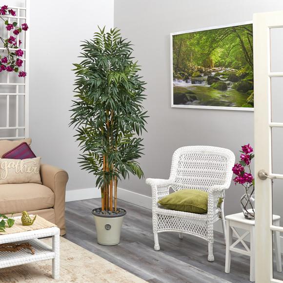 6 Phoenix Artificial Palm tree in Decorative Planter - SKU #T2167 - 3
