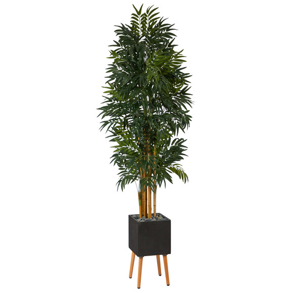 80 Phoenix Artificial Palm tree in Black Planter with Stand - SKU #T2168
