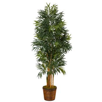 6 Phoenix Artificial Palm Tree in Wicker Planter - SKU #T2169