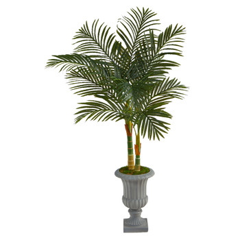 57 Golden Cane Artificial Palm Tree in Decorative Urn - SKU #T2211