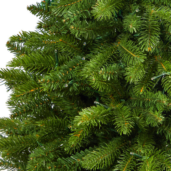 50 Sierra Spruce Natural Look Artificial Christmas Tree with 150 Clear LED Lights in White Planter - SKU #T2253 - 4
