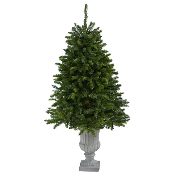 4.5 Sierra Spruce Natural Look Artificial Christmas Tree with 150 Clear LED Lights in Decorative Urn - SKU #T2254 - 2
