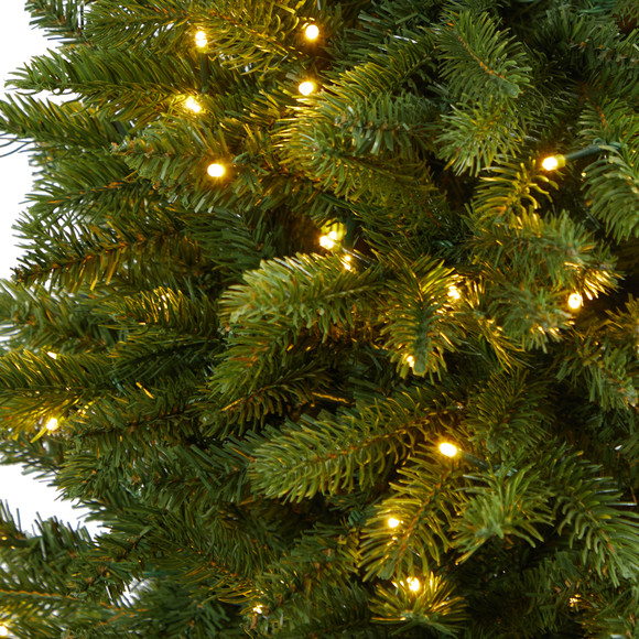 4.5 Sierra Spruce Natural Look Artificial Christmas Tree with 150 Clear LED Lights in Decorative Urn - SKU #T2254 - 3