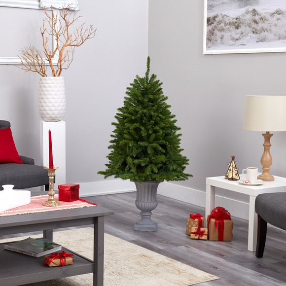 4.5 Sierra Spruce Natural Look Artificial Christmas Tree with 150 Clear LED Lights in Decorative Urn - SKU #T2254 - 8