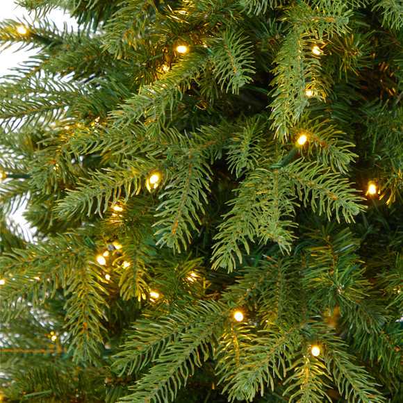 4.5 Vancouver Fir Natural Look Artificial Christmas Tree with 250 Clear LED Lights and 814 Bendable Branches in Decorative Planter - SKU #T2263 - 3
