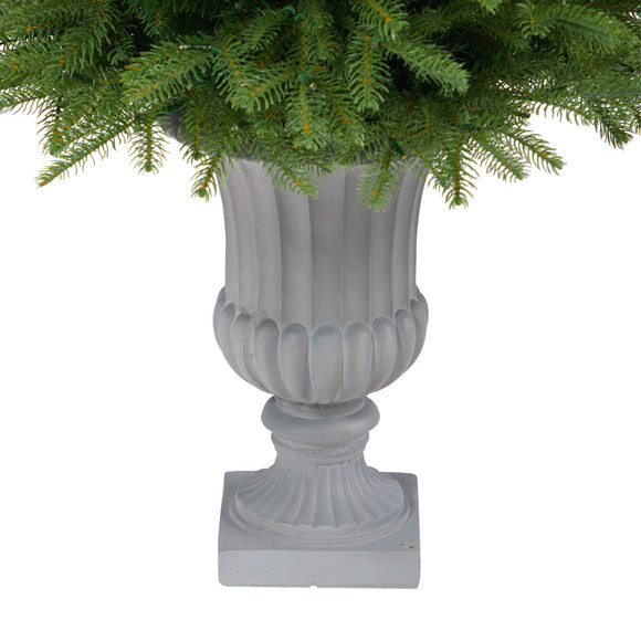 4.5 Vancouver Fir Natural Look Artificial Christmas Tree with 250 Clear LED Lights and 814 Bendable Branches in Decorative Planter - SKU #T2263 - 5