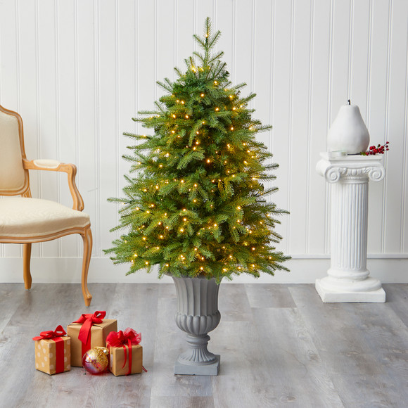 4.5 Vancouver Fir Natural Look Artificial Christmas Tree with 250 Clear LED Lights and 814 Bendable Branches in Decorative Planter - SKU #T2263 - 6