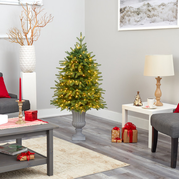 4.5 Vancouver Fir Natural Look Artificial Christmas Tree with 250 Clear LED Lights and 814 Bendable Branches in Decorative Planter - SKU #T2263 - 7