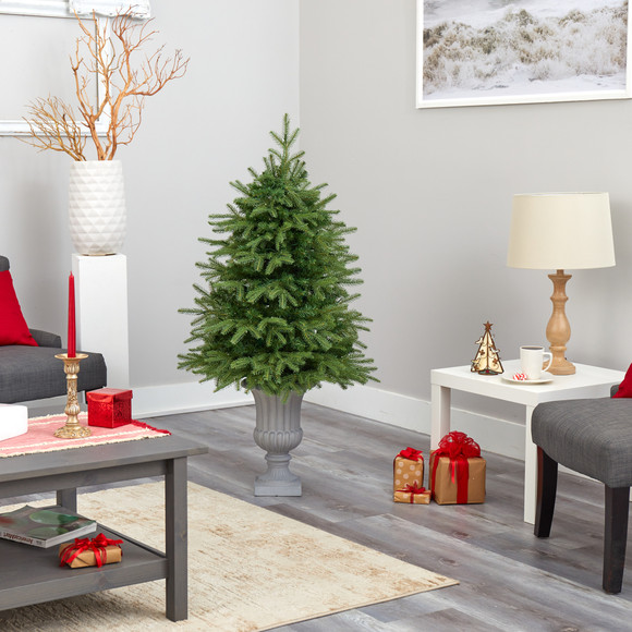 4.5 Vancouver Fir Natural Look Artificial Christmas Tree with 250 Clear LED Lights and 814 Bendable Branches in Decorative Planter - SKU #T2263 - 8