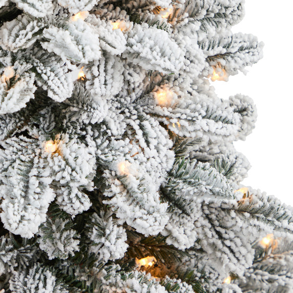 46 Flocked North Carolina Fir Artificial Christmas Tree with 150 Warm White Lights and 545 Bendable Branches in Decorative Urn - SKU #T2281 - 3