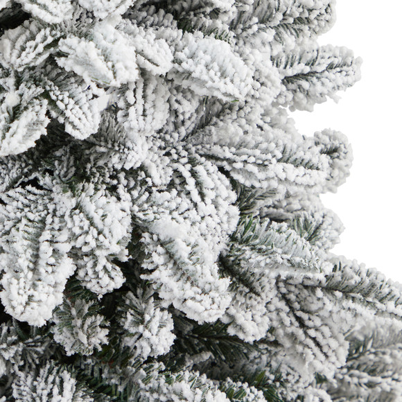 46 Flocked North Carolina Fir Artificial Christmas Tree with 150 Warm White Lights and 545 Bendable Branches in Decorative Urn - SKU #T2281 - 4