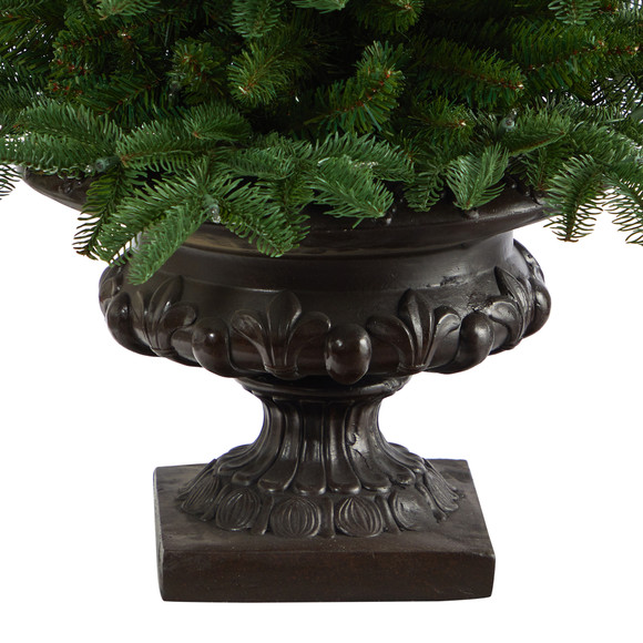 3.5 South Carolina Spruce Artificial Christmas Tree with 100 White Warm Light and 458 Bendable Branches in Iron Colored Urn - SKU #T2294 - 5