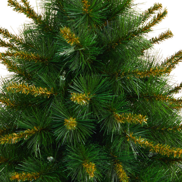 44 New England Pine Artificial Christmas Tree with 50 Clear Lights and 117 Bendable Branches in Decorative Urn - SKU #T2296 - 4