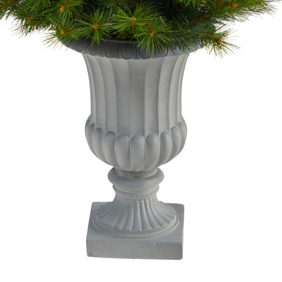 4.5 Green Valley Pine Artificial Christmas Tree with 100 Warm White LED Lights and 201 Bendable Branches in Decorative Urn - SKU #T2300 - 5