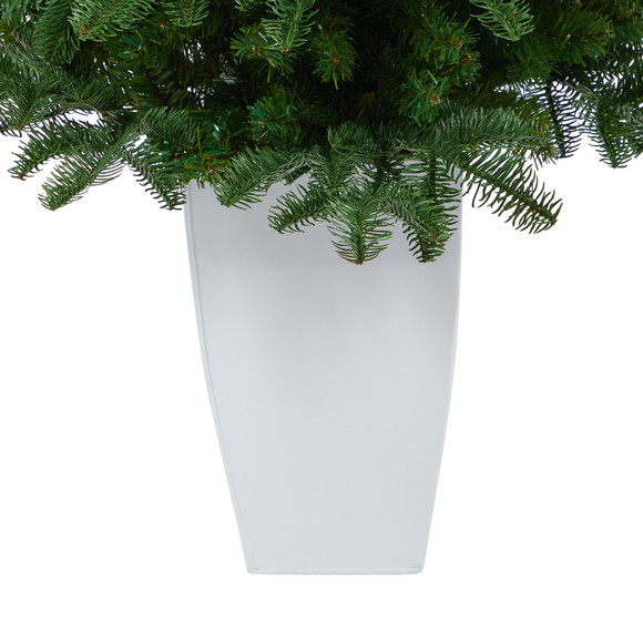 38 South Carolina Spruce Artificial Christmas Tree with 458 Bendable Branches in White Metal Planter - SKU #T2320 - 3