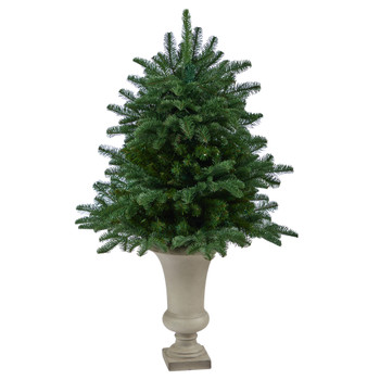 3.5 South Carolina Spruce Artificial Christmas Tree with 458 Bendable Branches in Sand Colored Urn - SKU #T2321