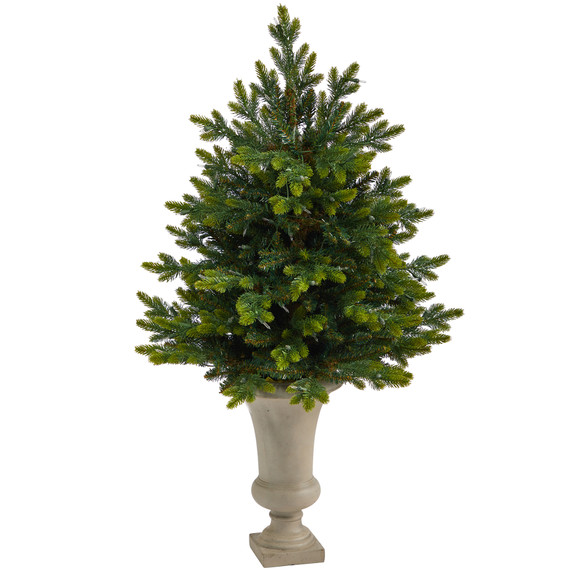 44 North Carolina Fir Artificial Christmas Tree with 150 Clear Lights and 563 Bendable Branches in Sand Colored Urn - SKU #T2323 - 2