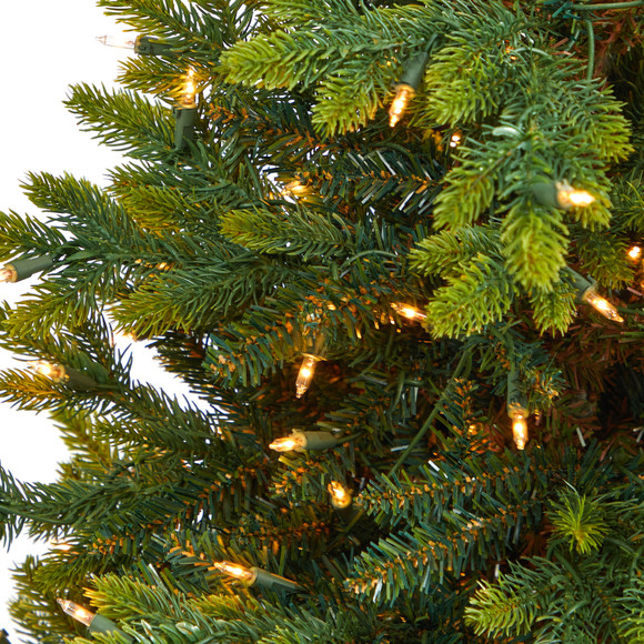 44 North Carolina Fir Artificial Christmas Tree with 150 Clear Lights and 563 Bendable Branches in Sand Colored Urn - SKU #T2323 - 3