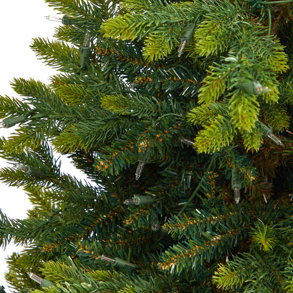 44 North Carolina Fir Artificial Christmas Tree with 150 Clear Lights and 563 Bendable Branches in Sand Colored Urn - SKU #T2323 - 4