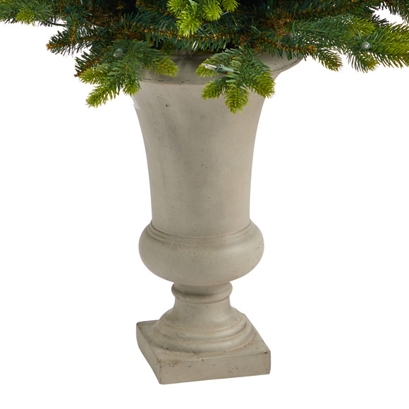 44 North Carolina Fir Artificial Christmas Tree with 150 Clear Lights and 563 Bendable Branches in Sand Colored Urn - SKU #T2323 - 5