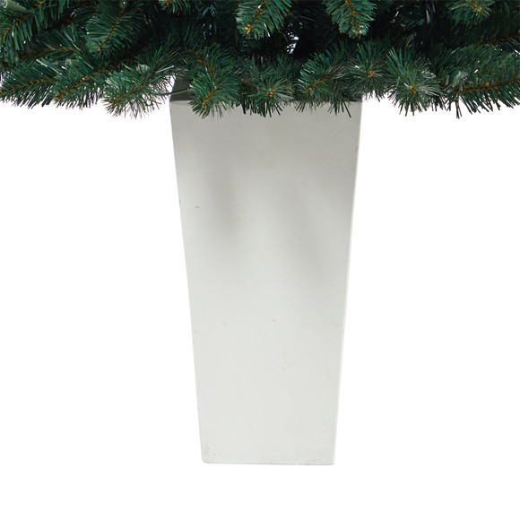 52 Northern Rocky Spruce Artificial Christmas Tree with 100 Clear Lights and 322 Bendable Branches in Tower Planter - SKU #T2337 - 14