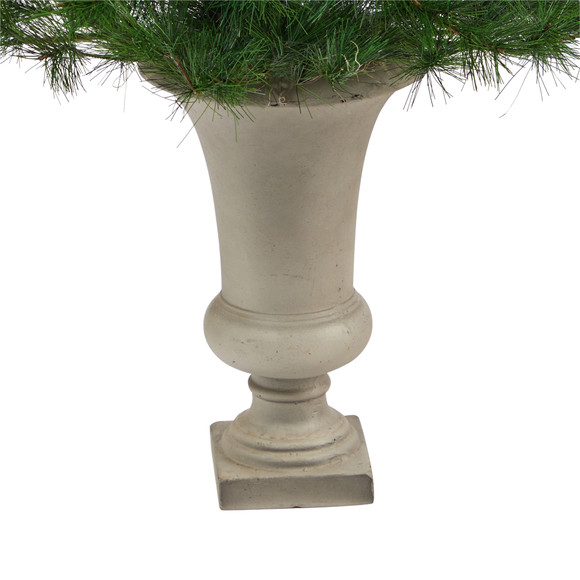3.5 Yukon Mixed Pine Artificial Christmas Tree with 213 Bendable Branches in Sand Colored Urn - SKU #T2348 - 3