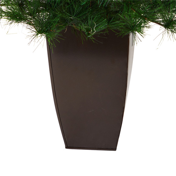 40 Yukon Mixed Pine Artificial Christmas Tree with 213 Bendable Branches in Bronze Metal Planter - SKU #T2350 - 3