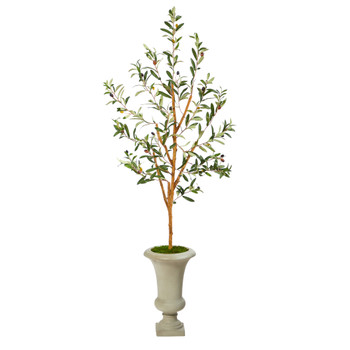 57 Olive Artificial Tree in Sand Colored Urn - SKU #T2442