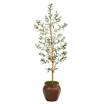 5.5 Olive Artificial Tree in Decorative Planter - SKU #T2445