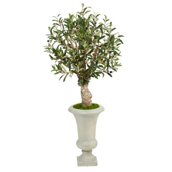 3.5 Olive Artificial Tree in Sand Colored Urn - SKU #T2464