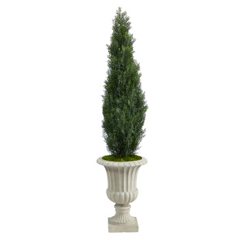 5 Cedar Artificial Tree in Sand Finished Urn Indoor/Outdoor - SKU #T2472