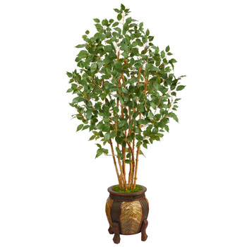 5.5 Ficus Bushy Artificial Tree in Decorative Planter - SKU #T2477