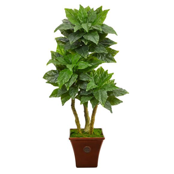 57 Bird Nest Artificial Tree in Brown Planter UV Resistant Indoor/Outdoor - SKU #T2481