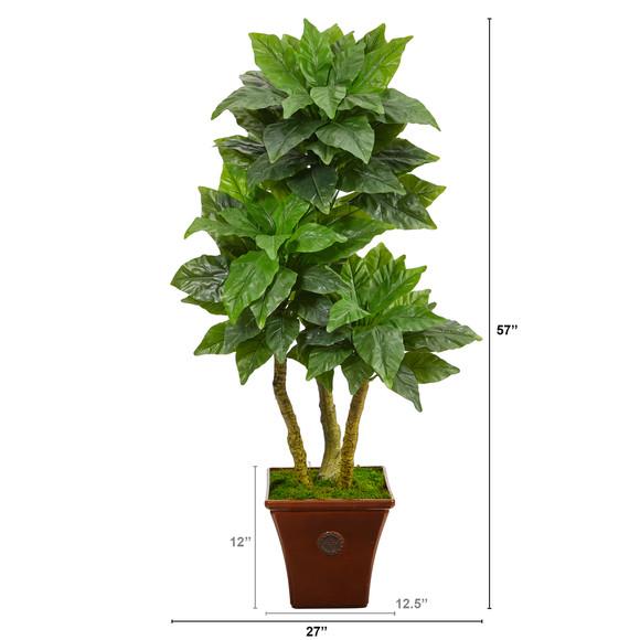 57 Bird Nest Artificial Tree in Brown Planter UV Resistant Indoor/Outdoor - SKU #T2481 - 1