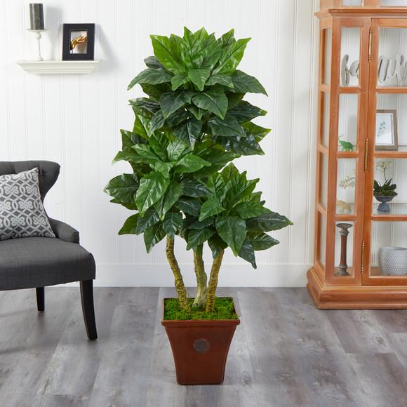 57 Bird Nest Artificial Tree in Brown Planter UV Resistant Indoor/Outdoor - SKU #T2481 - 2