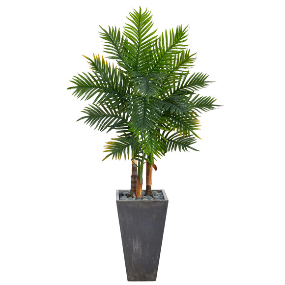 63 Areca Artificial Palm Tree in Cement Planter Real Touch - SKU #T2486