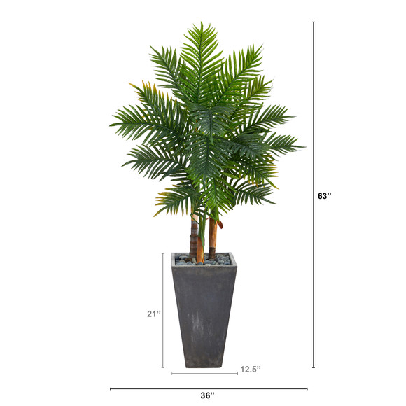 63 Areca Artificial Palm Tree in Cement Planter Real Touch - SKU #T2486 - 1