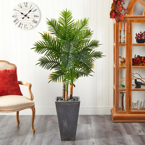 63 Areca Artificial Palm Tree in Cement Planter Real Touch - SKU #T2486 - 2