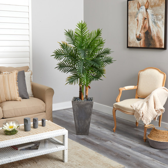 63 Areca Artificial Palm Tree in Cement Planter Real Touch - SKU #T2486 - 3