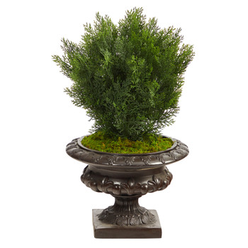 30 Cedar Artificial Tree in Iron Colored Urn Indoor/Outdoor - SKU #T2493