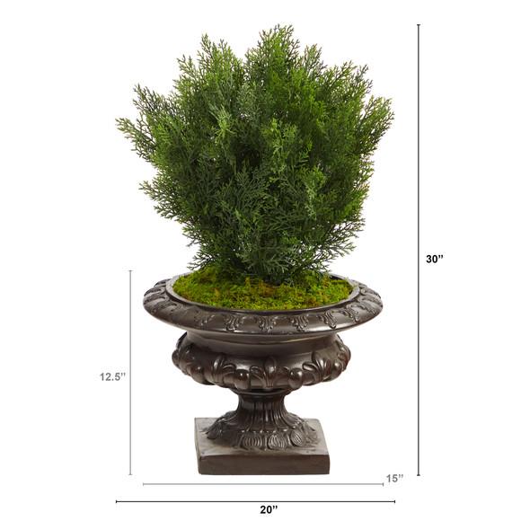 30 Cedar Artificial Tree in Iron Colored Urn Indoor/Outdoor - SKU #T2493 - 1