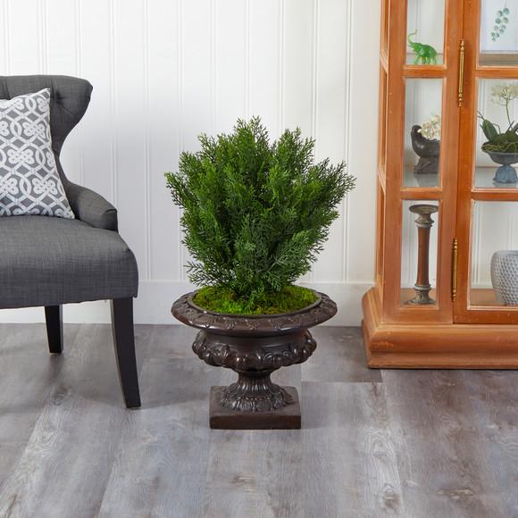 30 Cedar Artificial Tree in Iron Colored Urn Indoor/Outdoor - SKU #T2493 - 2