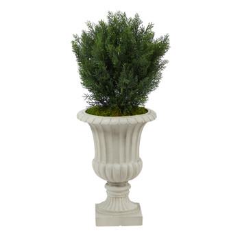 39 Cedar Artificial Tree in Sand Finished Urn Indoor/Outdoor - SKU #T2494