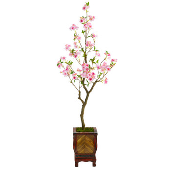 56 Cherry Blossom Artificial Tree in Decorative Planter - SKU #T2496